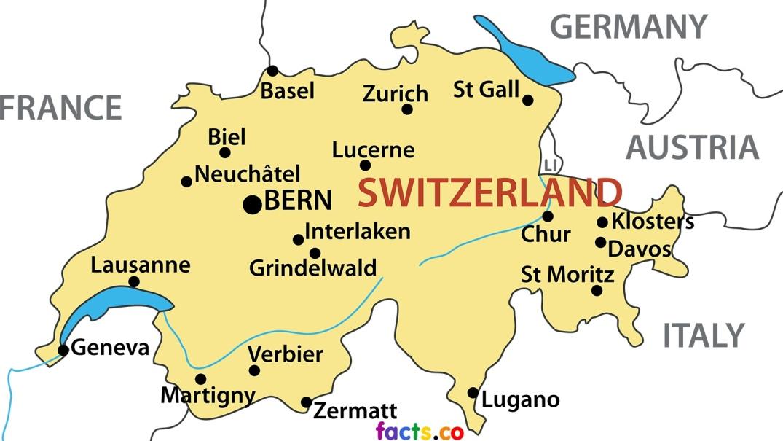 SwitzerlandMapwithCities